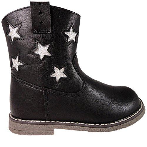 Chatterbox  Lottie,  Mädchen Kurzschaft Stiefel , schwarz - schwarz - Größe: 25 EU (Kinder Schwarze Stiefel Für)