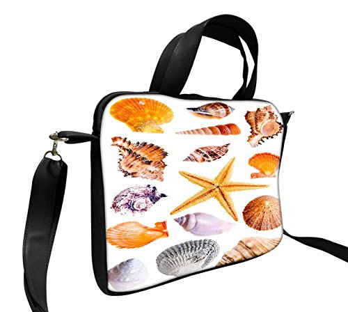 Snoogg 14 Muscheln und Star Fisch Studio isoliert auf weiß 43,2 cm Zoll auf 44,5 cm Zoll auf 44,7 cm Zoll Kunstleder Laptop Notebook Schuber Sleeve, der Fall mit und Schultergurt für MacBook Pro Acer Asus Dell HP Sony Toshiba (Dell Studio Laptop Cover)