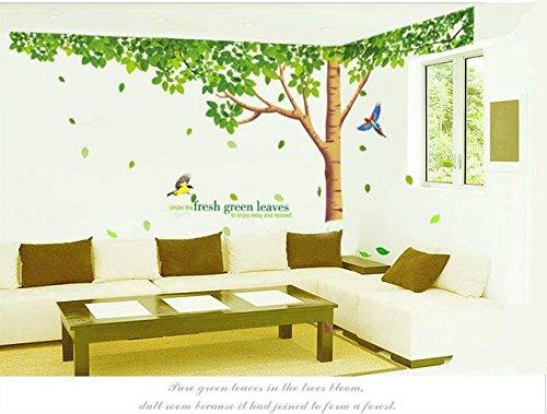 Rainbow Fox Grand Rosa Sakura Kirschblüte Baum Wandtattoo Sticker PVC abnehmbar Wall Decal für die Mädchen und Jungen-Baumschule XY1098 -