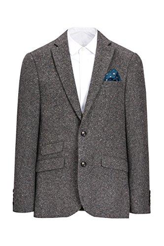 next Herren Signature Donegal Jacke Slim Fit Wolle Schmale Passform Sakko Grau