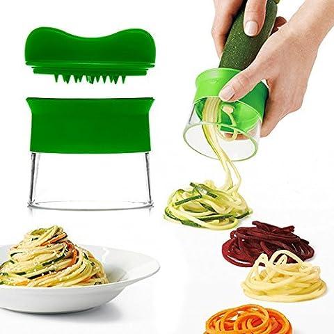 Askliy Cortador de Verduras Frutas en Espiral Multifuncional,Rallador Multiusos Manual Herramienta de la Cocina Sin Esfuerzo