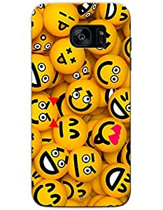 Samsung Galaxy S7 Egde Cases & Covers - Smileys Case by myPhoneMate - Designer Printed Hard Matte Case - Protects from Scratch and Bumps & Drops.