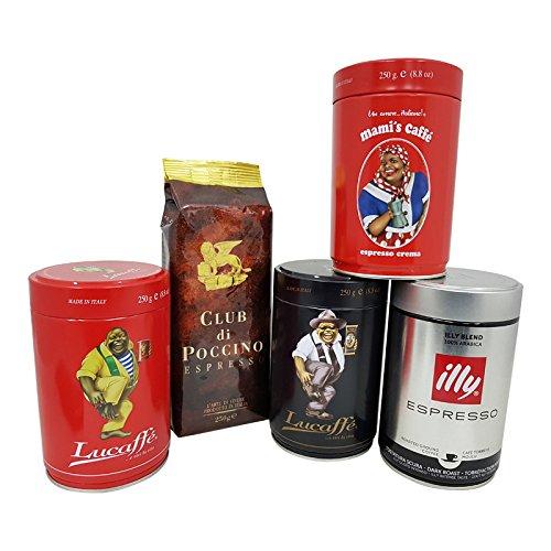 Espresso Probierset ganze Bohne, 5 x 250g