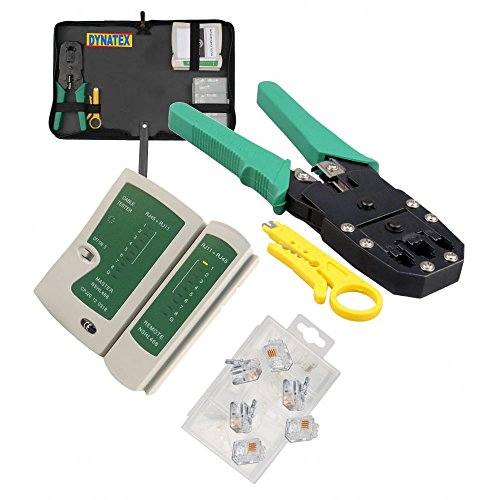 RJ45Ethernet Netzwerk Kabel Tester Crimp-Crimper Stripper Cutter Tool Kit Set