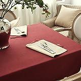 SCLOTHS Mantel de algodón clásico simple decoración de la Mesa de Comedor 130*180cm