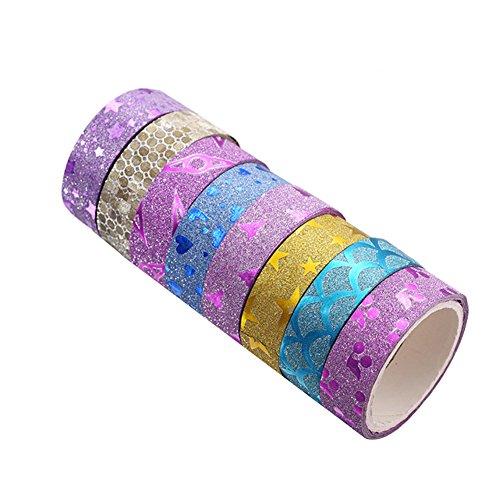 outflower 100Herz selbstklebend Shining Maskierung Dekorative Washi Tape Scrapbooking DIY Crafts zufällige