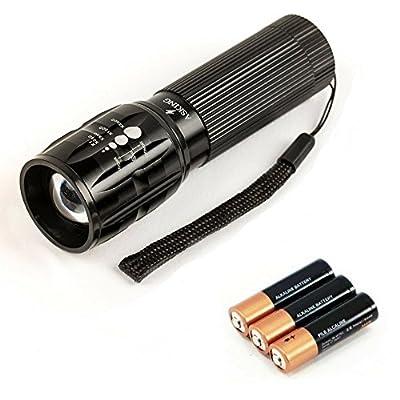 Elking Taschenlampe LED CREE Q5 2000 Lumen Teleskop Wasserdicht Leistungsstarke