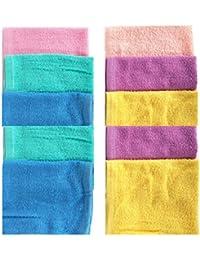Indiacrafts Premium Cotton Women's Turkish Towel Handkerchief set of 10 Piece