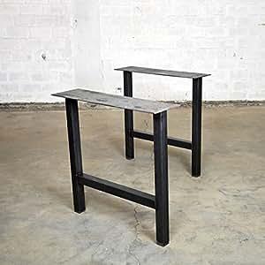 Table support au design industriel, plateau de table Plaques Métal Rétro Vintage Table Armature de table Pied de table en acier