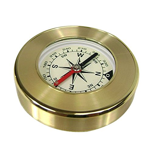 eizur Outdoor Camping Wandern tragbare Messing rund goldene Kompass Navigation Werkzeug aseismic Wasserdicht Exploration Kompass (Sparrow Medaillon)