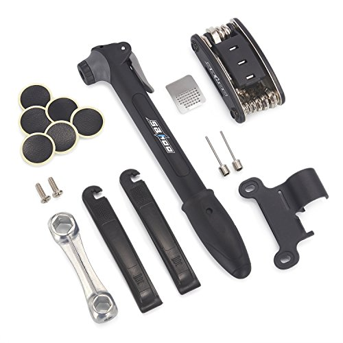 iDreameme Kit de herramientas para bicicleta, Mini bomba de bicicleta,Portátil para Bicicleta...