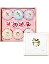 Efloral Clous 6pièces Bio bombes de bain Coffret cadeau pour femme
