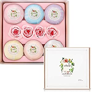 Bath Bombs Gift Set Natural Bath Supplies 6 Pcs Bath Set For Women Fragrance Organic Bath Gift Set 4.2 Oz