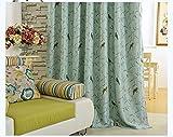 myru 2er-Set Vögel Vintage Vorhänge für Kinderzimmer Mädchen Jungen Zimmer(245*140cm,Grün)