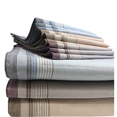 JEMIDI Stofftaschentücher Herren und Damen Baumwolle 12er Pack Stoff Taschentücher 100% Baumwolle Herrentaschentücher Stofftaschentuch in unterschiedlichen Designs, Design 12, 40cm x 40cm -