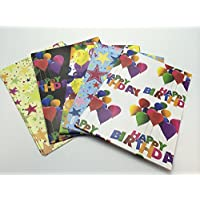 shop inc 10 Sheets of Luxury Birthday Soft Touch Gift Wrap and Tags