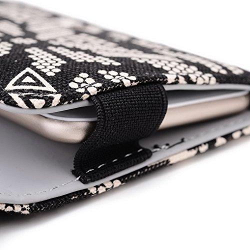 Kroo Téléphone portable Dragonne de transport étui avec porte-cartes pour Samsung Galaxy S5Mini/Xcover 3 Multicolore - noir Multicolore - noir