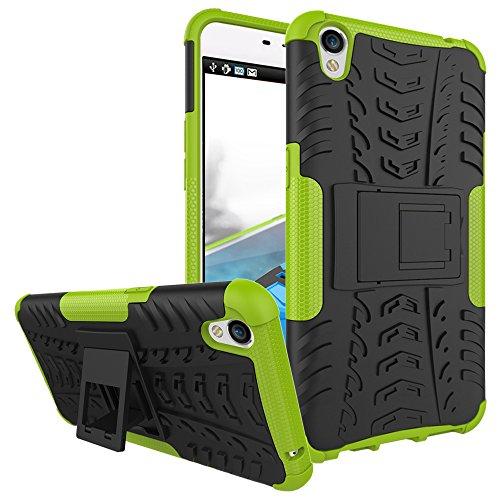 COVO® Festigkeit und Flexibilität Zurück Cover Style Smartphone Hülle mit Kickstand für OPPO F1 Plus (Grün)