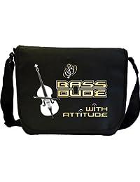 Double Bass Dude Attitude - Sheet Music Document Bag Musik Notentasche MusicaliTee