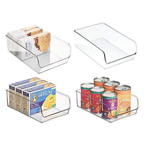 mDesign Cajas organizadoras grandes - cajas plasticas ideales para cocina, en armarios...