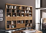 Wohnwand aus Eschenholz Design, Wohnwand Stil modern, ohne Rückwand/mit Schubladen/mit Schubfächern, Made in Italy