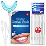 Kit Blanchiment Dentaire LED Lampe Dentaire, 5* Gel de blanchiment des dents, iFanze Gel Blanchiment Dentaire...