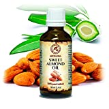 Mandelöl - Rein und Natürlich 100ml - Glasflasche - Mandel Öl - Körperöl - Kaltgepresst - Nährend - Intensive Pflege für Gesicht - Körper - Haare - Haut - Lippen - Mit Ätherischem Öl für Massage Von Aromatika