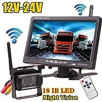 12 V-24 V Wireless 18LEDs IR visión nocturna impermeable cámara de visión trasera de