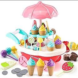 Togames-IT Giocattolo educativo del Giocattolo del carretto di Candy del Gelato delle luci rotatorie per i Bambini Haha