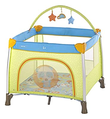 Jane - Parque de viaje jané travel fun toys azul/pistacho