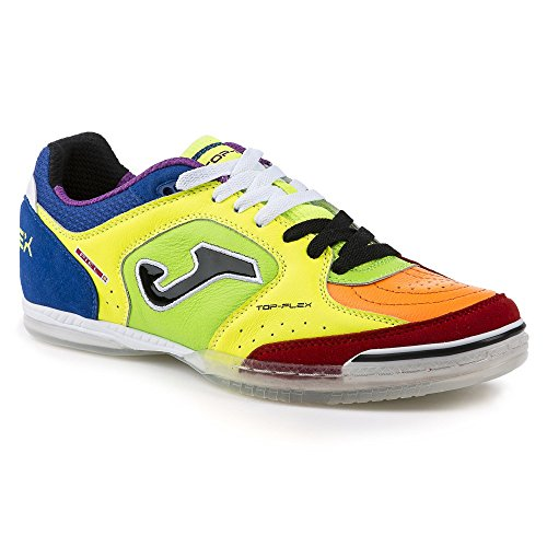 Scarpe da calcetto JOMA TOP FLEX 616 GIALLO-ARANCIO-VERDE INDOOR