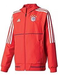 2017-2018 Bayern Munich Adidas Presentation Jacket (Red) - Kids