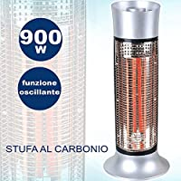 TradeShopTraesio GHB – Estufa electrica AL Carbono Infrarrojos 900 W oscilante Calor instantáneo