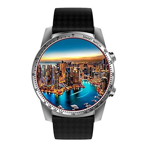 Lemumu JSBP KW 99 Smartwatch 3G Kingwear 1,39\'\' Amoled 400*400 Smart Watch 3G Aufruf Schrittzähler Herzfrequenz
