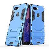 Happy-L Hülle für ZTE Nubia Z17S, Dual Layer Armor Defender Shockproof Hard Case mit Ständer (Farbe : Blau)