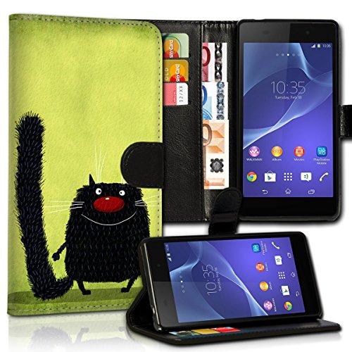 wicostar Wallet Book Style Flip Handy Tasche Case Schutz Hülle Schale Motiv Etui für Huawei Ascend Y330 - Variante UMV21 Design11