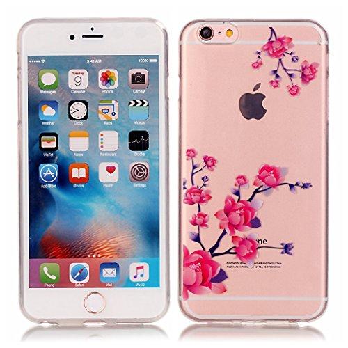 iPhone 6s plus Hülle,iPhone 6 plus TPU Hülle,Fodlon® Ultra dünn Tropfenschutz / Shock-Absorption mit Anti-Scratch Silikon-TPU-Fall-Abdeckung für iPhone 6 plus 6s plus-Bär Blume