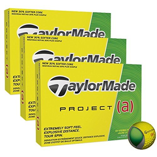 TaylorMade 2017 Project (a) Tour Performance Mens Distance Golf Balls 3 Dozen Yellow