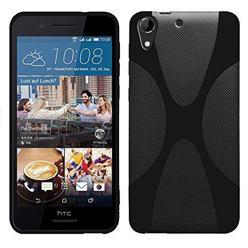 HTC Desire 728G Dual Sim - TPU Schutzhülle X-Style X Design Case Schutz Cover Etui Hülle in Schwarz - RT-Trading