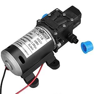 Bomba de agua autocebante, 12V DC 100W 8L / Min 160Psi Diafragma de alta presión. Bomba de agua autocebante para…