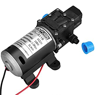 51yh%2BqawSSL. SS324  - Bomba de agua autocebante, 12V DC 100W 8L / Min 160Psi Diafragma de alta presión. Bomba de agua autocebante para lavadora de automóviles