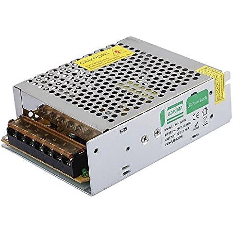 Liqoo® 120W 10A LED Trafo Transformador del Conductor Eléctrico Fuente de Alimentación Driver para LED Tira Banda DC 12V