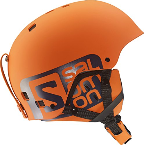 Salomon Adult Unisex Helmet for Skiing and Snowboarding, Park and Pipe, ABS + EPS Shell, Size: L, 1.9 ft. circumference, Colour: Orange, L37776400