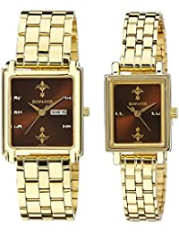 Sonata Analog Brown Dial Couple's Watch -NK70538080YM02