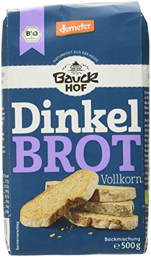 Bauckhof Dinkelbrot Vollkorn Demeter, 6er Pack (6 x 500 g)