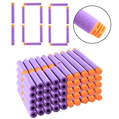 LDB SHOP 100 Stück Darts Pfeile für Nerf N-Strike Elite Series-Lila (Lila Pfeile)