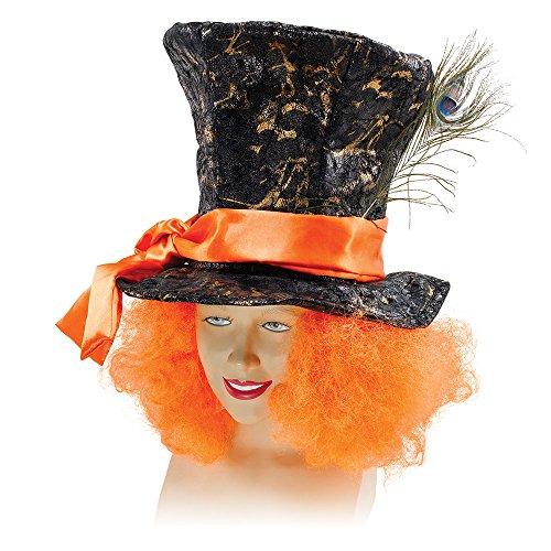Karte Kostüm Händler - Bristol Novelty Der verrückte Hutmacher Hut und Haare, mehrfarbig, Einheitsgröße, bh520