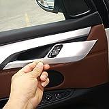 Intérieur de voiture accessoire de 4pcs/lot en ABS chromé de sécurité Verrou de porte Coque Bordure Stickers pour BMW X5X6F15F16201420152016
