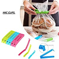 HKC.Plastic Food Snack Bag Pouch Clip Sealer, Multicolour-Pack of 18
