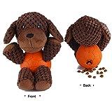 EETOYS Hundespielzeug vielseitiges Plüschspielzeug in Tierfigur mit Quietschies, Snacks befüllbar